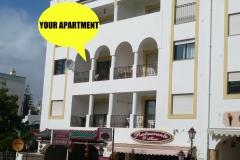 Uw appartement met zwembad in de Algarve. 2e etage, lift.